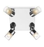 Dar Artemis 4 light Square Plate Ceiling Light